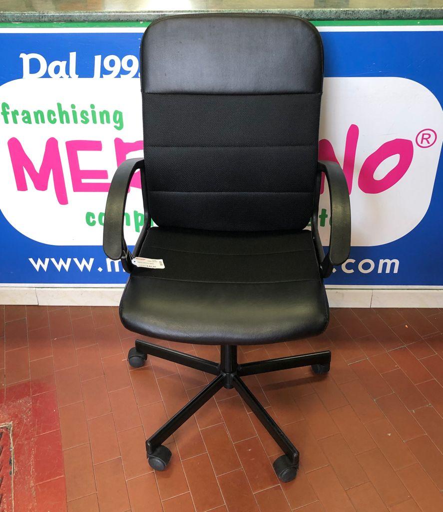 sedia ufficio nera | Mercatino dell'Usato Brusciano