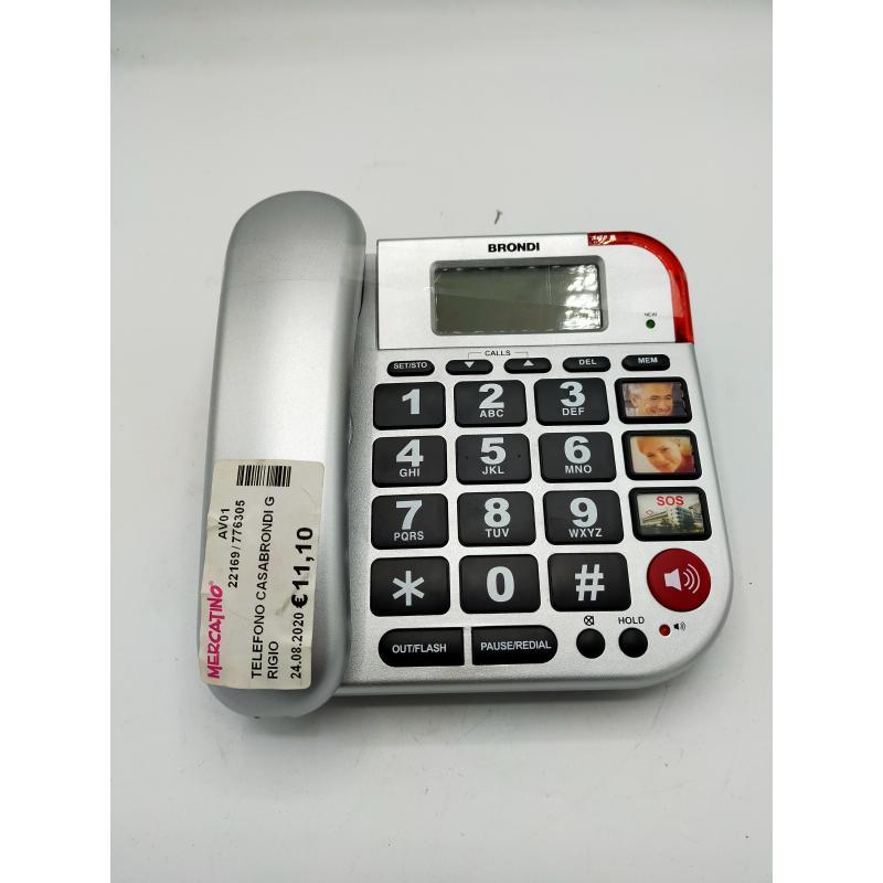 TELEFONO CASABRONDI GRIGIO | Mercatino dell'Usato Atripalda 1