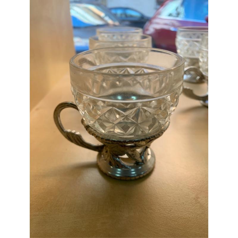 TAZZINE CAFFÈ VETRO VASE PELTROX6   Mercatino dell'Usato Bisceglie 2