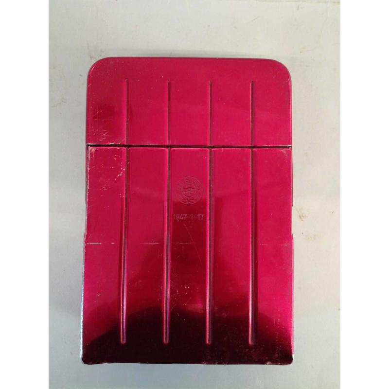 SCHEDARIO ROSSO LATTA RESISTO 1947-1-17 DIM. H. 5.5 X 20 CM X 20 CM | Mercatino dell'Usato Molfetta 1
