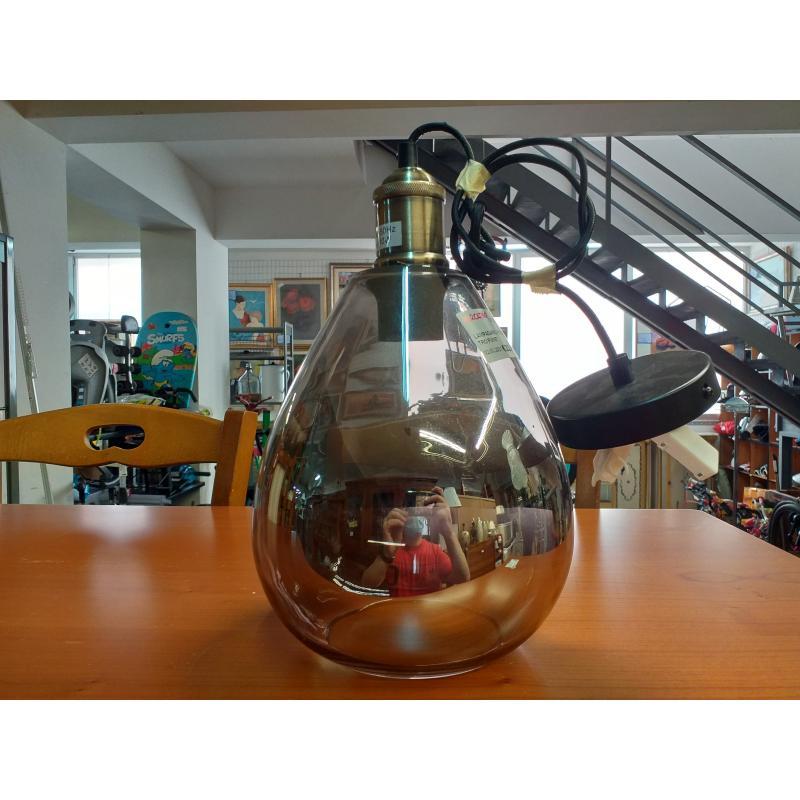 LAMPADARIO PICCOLO VETRO FUME'   Mercatino dell'Usato Molfetta 1