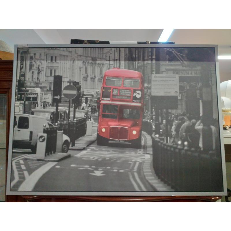 QUADRO GRANDE STAMPA LONDON BUS | Mercatino dell'Usato Molfetta 1