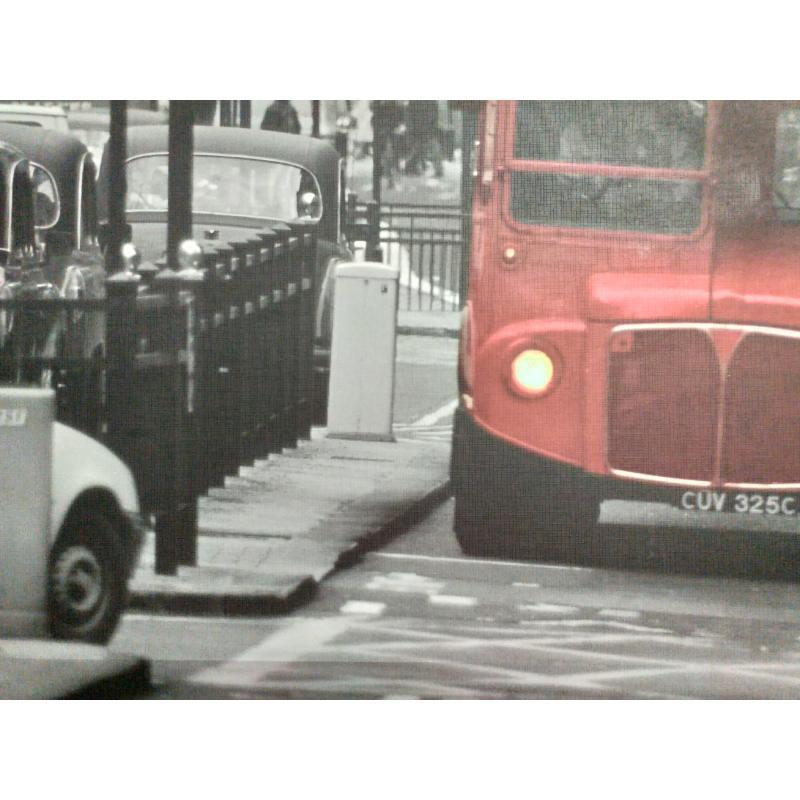 QUADRO GRANDE STAMPA LONDON BUS | Mercatino dell'Usato Molfetta 2