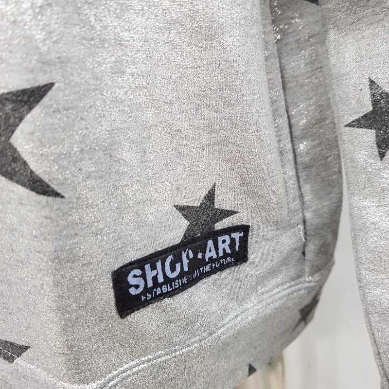 FELPA DONNA SHOP ART ARGENTO STELLE NERE | Mercatino dell'Usato Molfetta 2