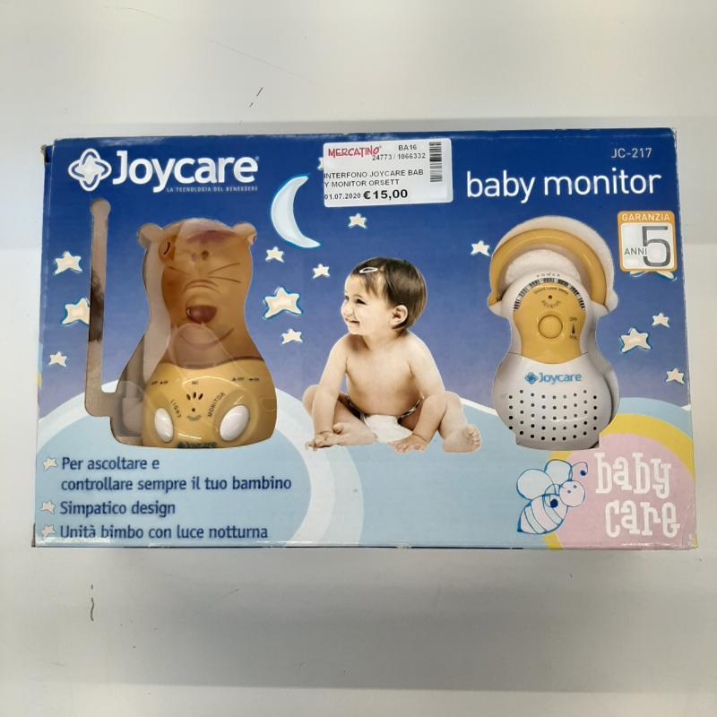 INTERFONO JOYCARE BABY MONITOR ORSETTO GIALLO | Mercatino dell'Usato Molfetta 1