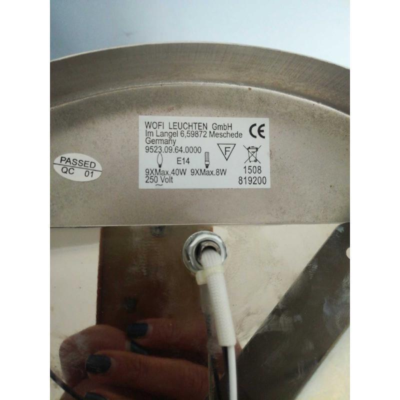 LAMPADARIO PLAFONIERA FERRO CROMATO 9 LUCI | Mercatino dell'Usato Molfetta 3