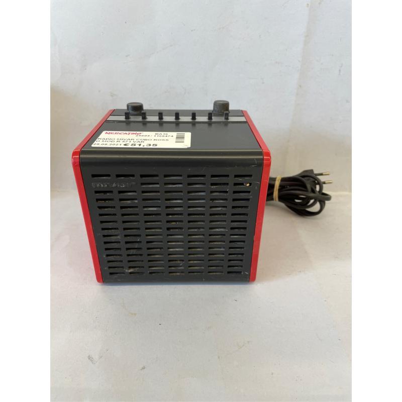 RADIO MIVAR CUBO ROSSO MOD R 571 VAR VINTAGE | Mercatino dell'Usato Molfetta 1