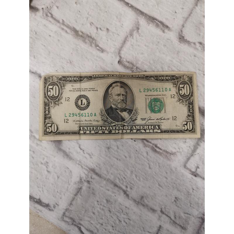 BANCONOTA 50 DOLLAR AMERICANO | Mercatino dell'Usato Campobasso 1