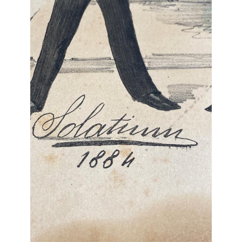 VIGNETTA SU CARTA 1884 A FIRMA SOLATIUM THE STARTER 35X24 | Mercatino dell'Usato San giovanni teatino 3