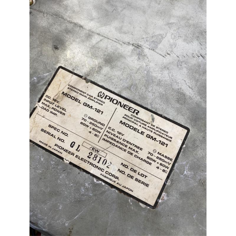 AMPLIFICATORE AUTO PIONEER GM-121 | Mercatino dell'Usato San giovanni teatino 2