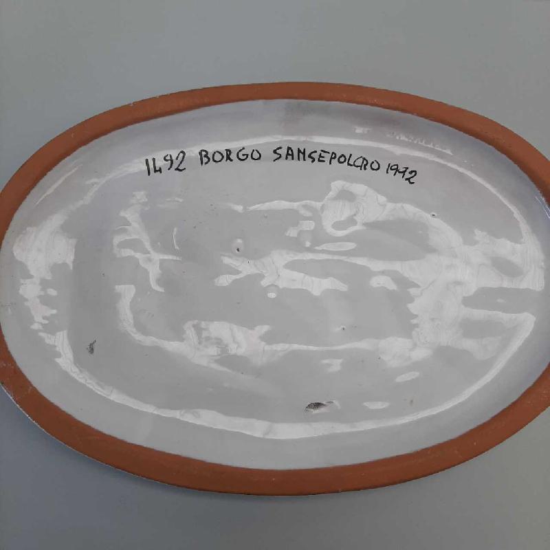 OVALE IN CERAMICA ANNIVERSARIO PIERO DELLA FRANCESCA 1972   Mercatino dell'Usato San giovanni teatino 2
