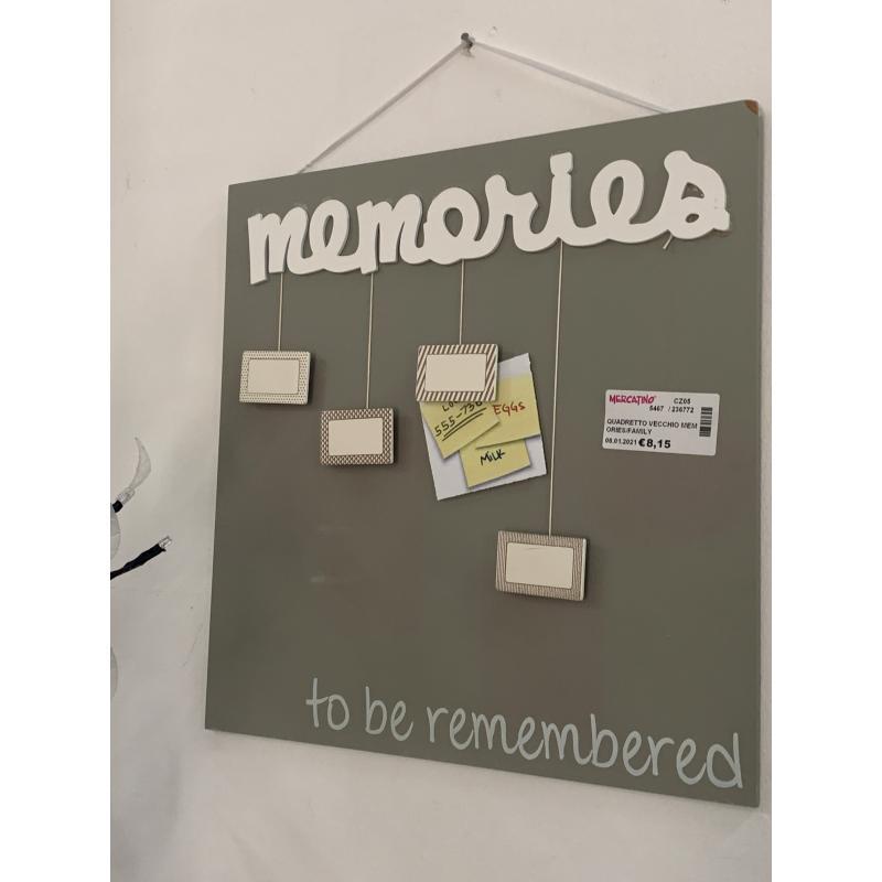QUADRETTO VECCHIO MEMORIES/FAMILY   Mercatino dell'Usato Lamezia terme 2