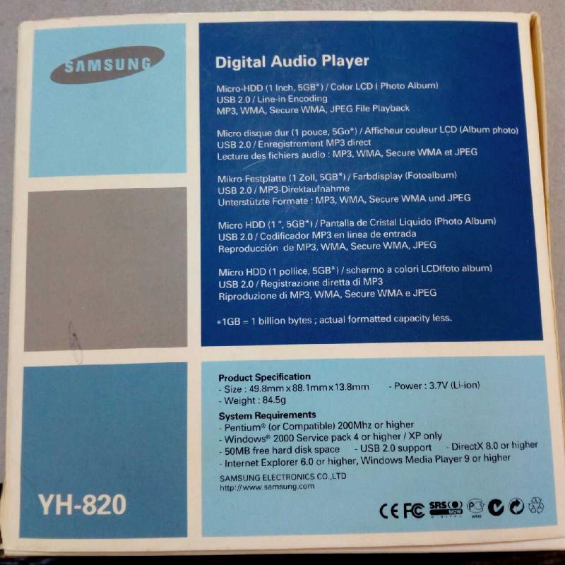 MP3 SAMSUNG | Mercatino dell'Usato Latina 2