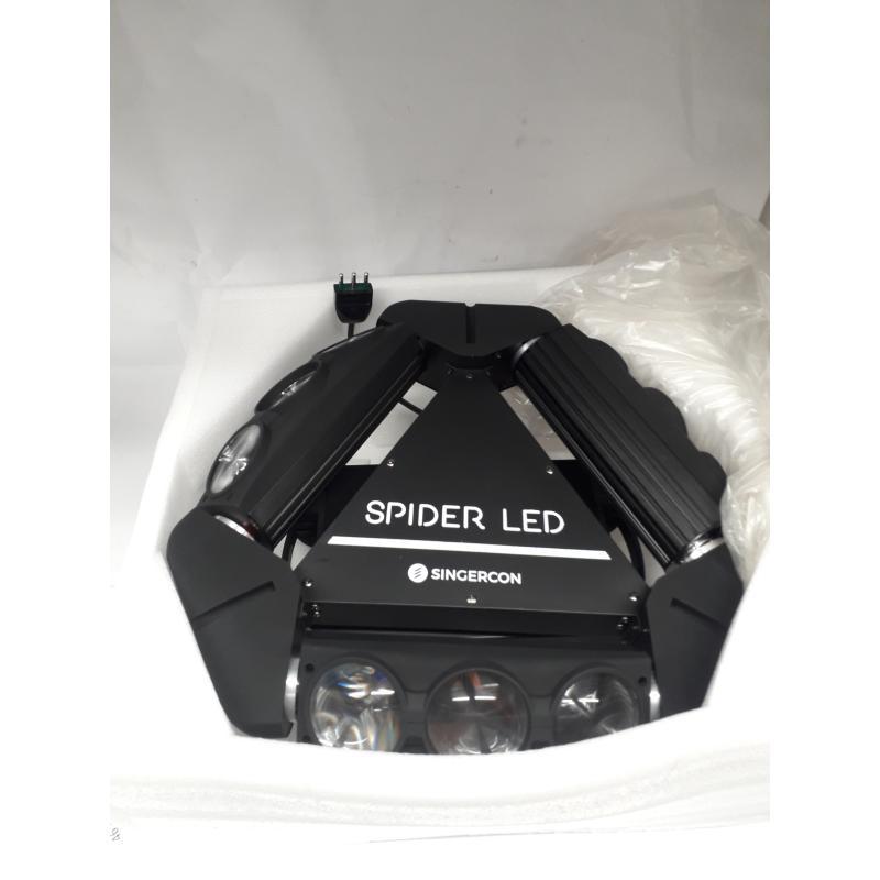 LUCI STROBOSCOPICHE TESTA MOBILE SPIDER LED SINGERCON | Mercatino dell'Usato Busnago 1