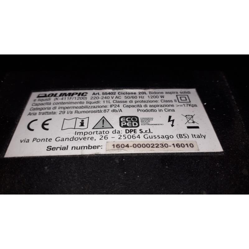 BIDONE ASPIRA TUTTO OLIMPIC CICLONE   Mercatino dell'Usato Busnago 2