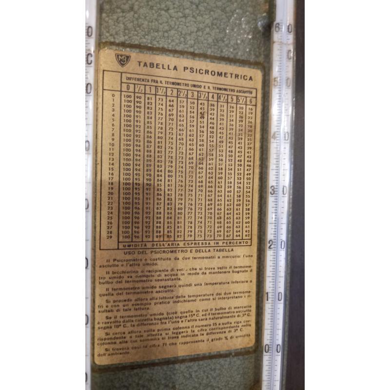 IGROMETRO PSICOMETRO ANNI 50/60   Mercatino dell'Usato Busnago 2