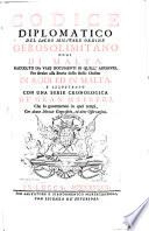 CODICE DIPLOMATICO DEL SACRO MILITARE ORDINE GEROS | Mercatino dell'Usato Messina 1