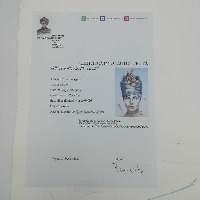 DIPINTO ACQUERELLO F.RUGGERI 38X57 INCOLTI | Mercatino dell'Usato Seregno 2