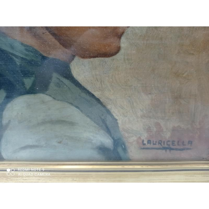 QUADRETTO LAURICELLA PROFILO BAMBINA  | Mercatino dell'Usato Milano centrale 3
