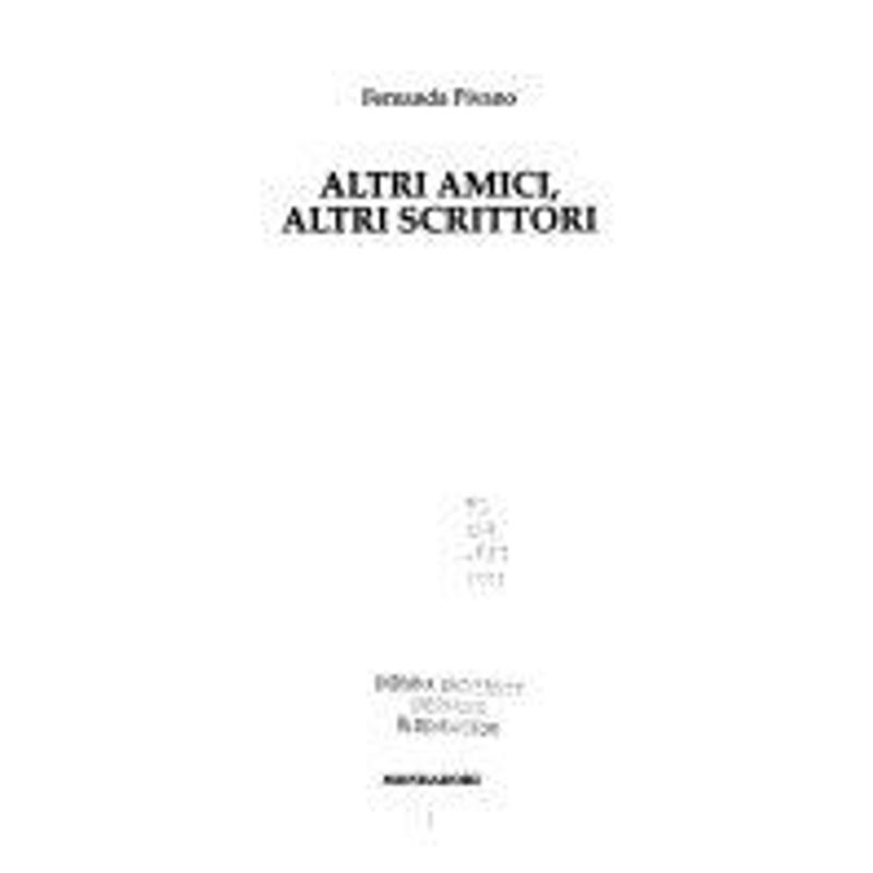 ALTRI AMICI, ALTRI SCRITTORI | Mercatino dell'Usato Napoli 1