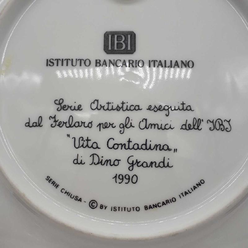 PIATTO PAESAGGIO MUCCA ISTITUTO BANCARIO ITALIANO | Mercatino dell'Usato Napoli 3
