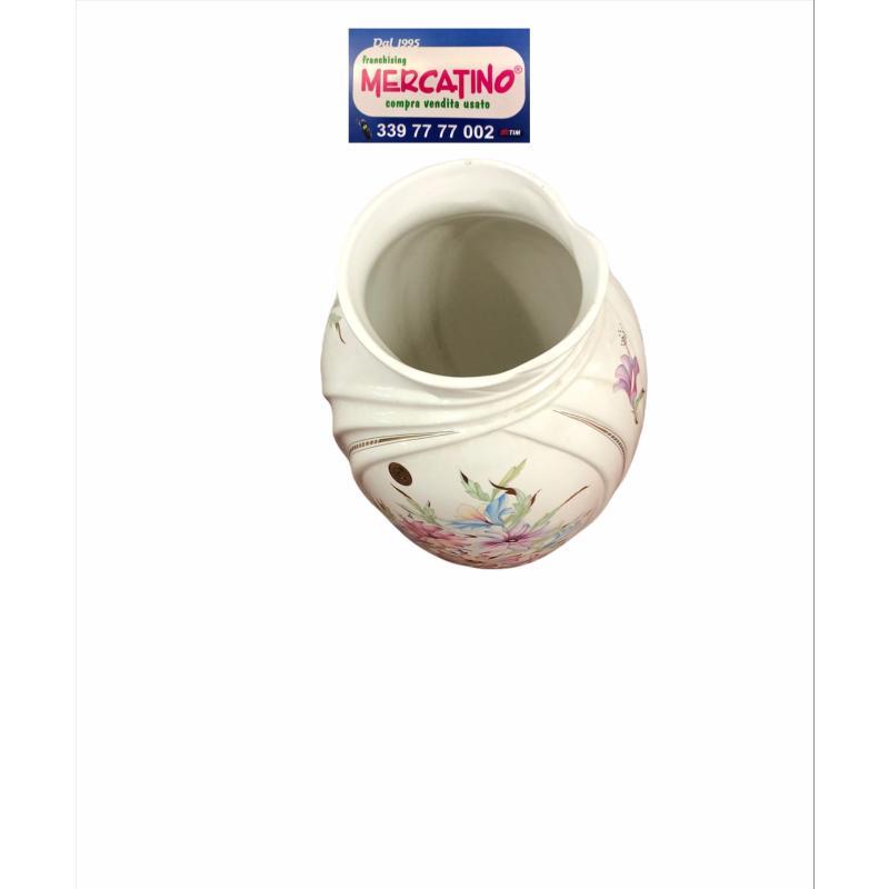 PORTA OMBRELLI CERAMICA BIANCO CON FIORI CLS RIALEX H50CM | Mercatino dell'Usato Brusciano 2