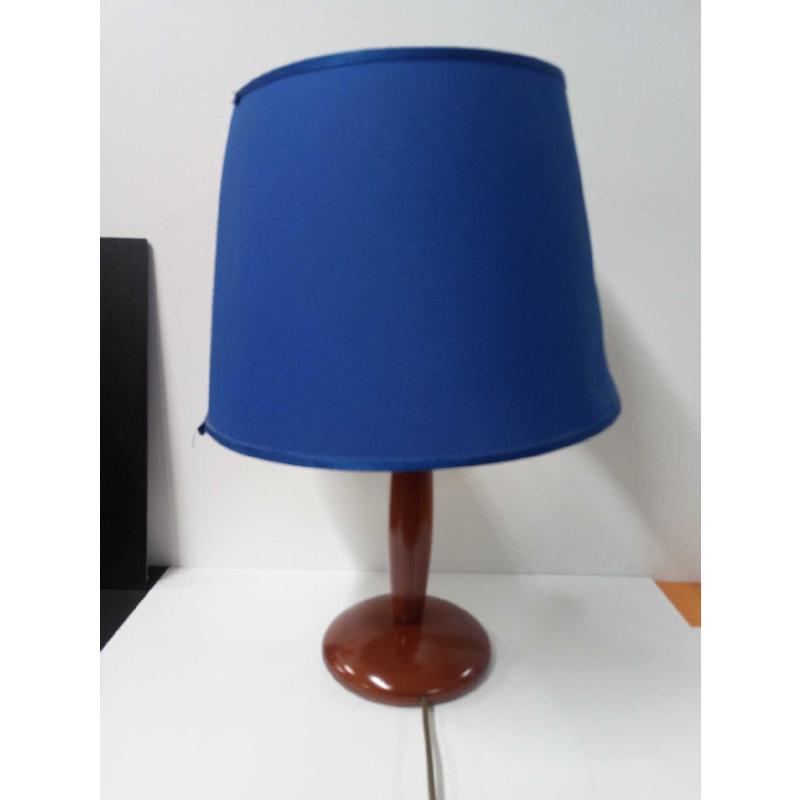 LAMPADA GRANDE BASE LEGNO CORPILUME BLU | Mercatino dell'Usato Acerra 1