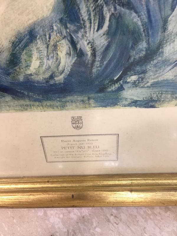 QUADRO STAMPA PETIT NU BLEU | Mercatino dell'Usato Lago patria - giugliano in c. 3