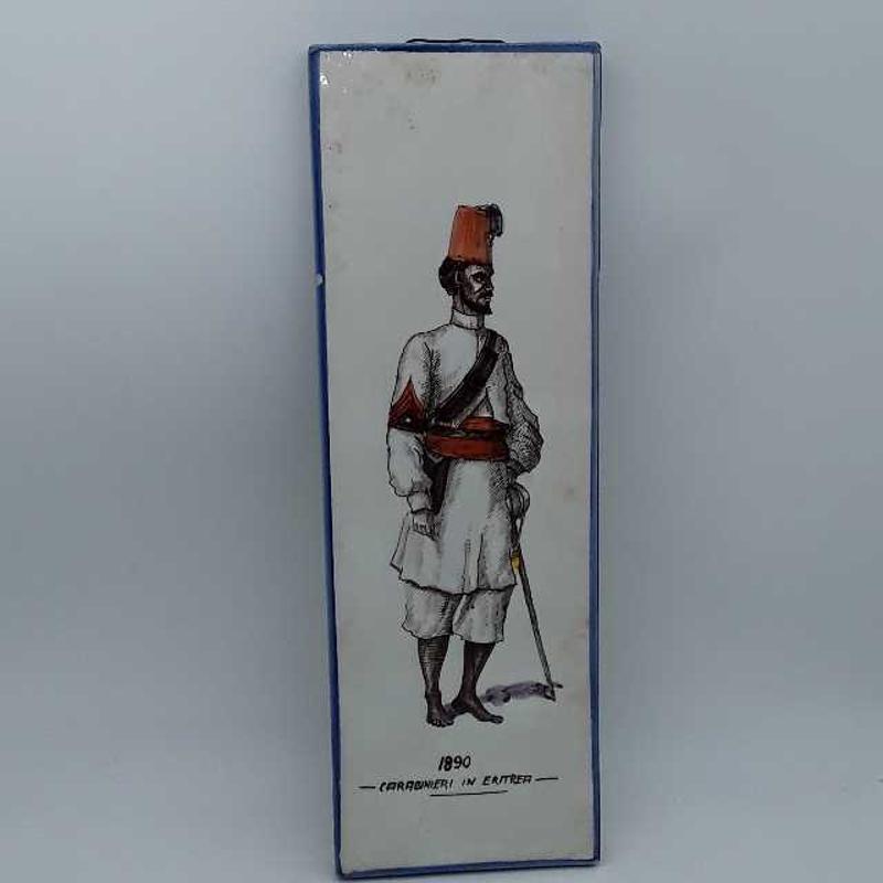 MATTONELLA CARABINIERE 1890 38X12 SCHEGGIATA   Mercatino dell'Usato Montesilvano 1