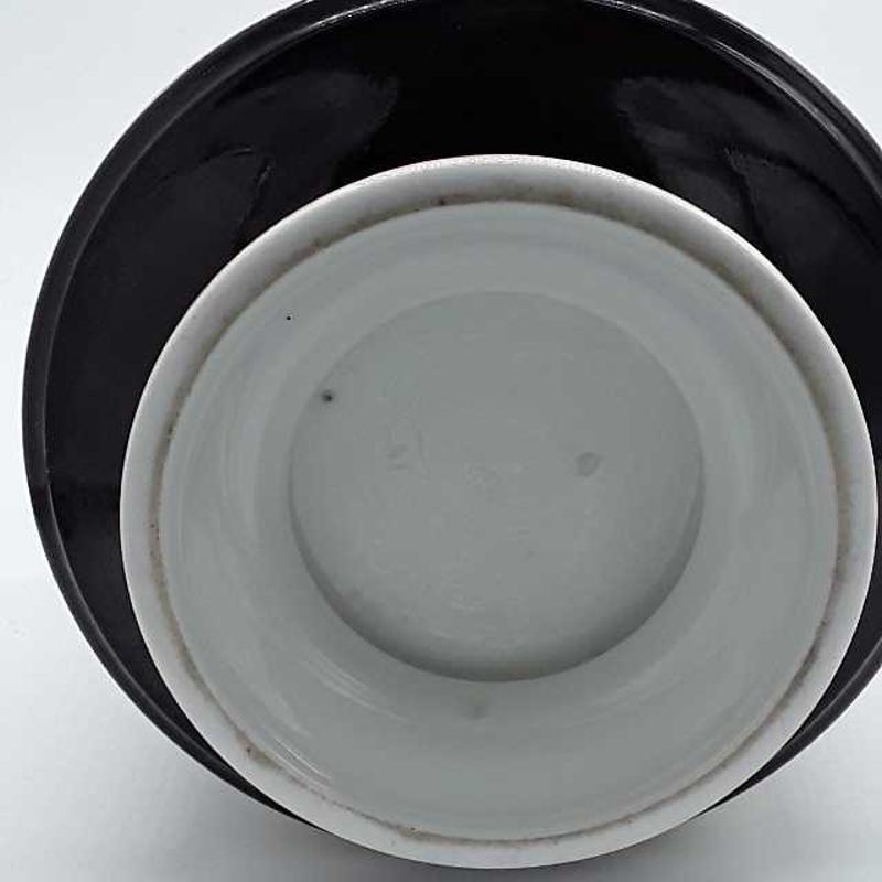 VASO NERO FIORATO CM 22 R | Mercatino dell'Usato Montesilvano 3