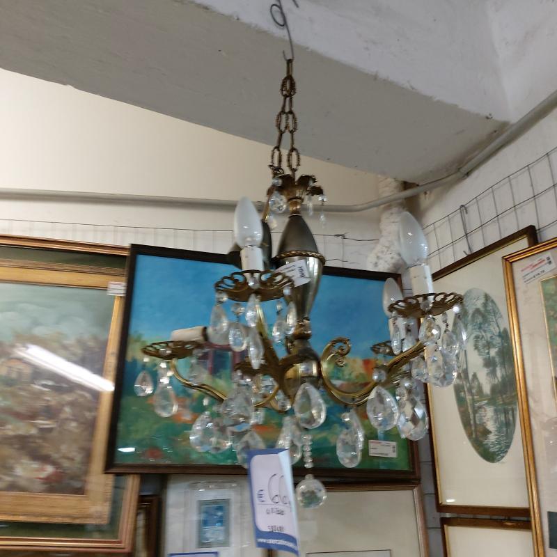 LAMPADARIO 5 LUCI  GOCCE  | Mercatino dell'Usato Perugia 1