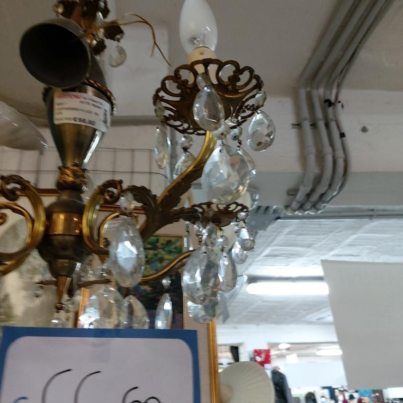 LAMPADARIO 5 LUCI  GOCCE  | Mercatino dell'Usato Perugia 2