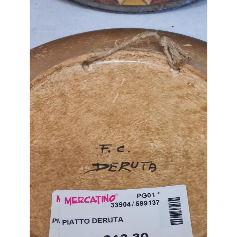 PIATTO DERUTA  | Mercatino dell'Usato Perugia 2