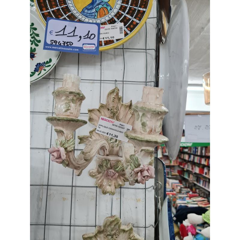 APPLIQUE CERAMICA ROTTA | Mercatino dell'Usato Perugia 1