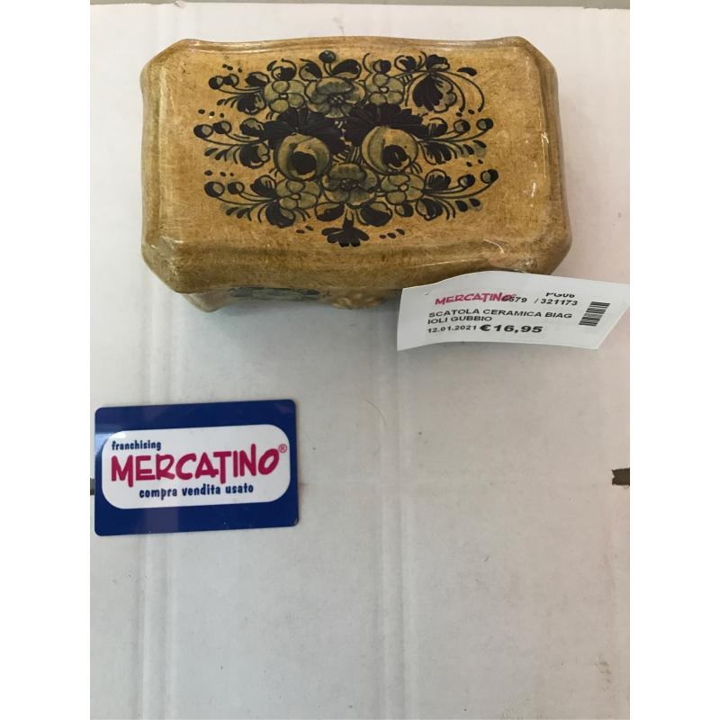 SCATOLA CERAMICA BIAGIOLI GUBBIO   Mercatino dell'Usato Bastia umbra 1