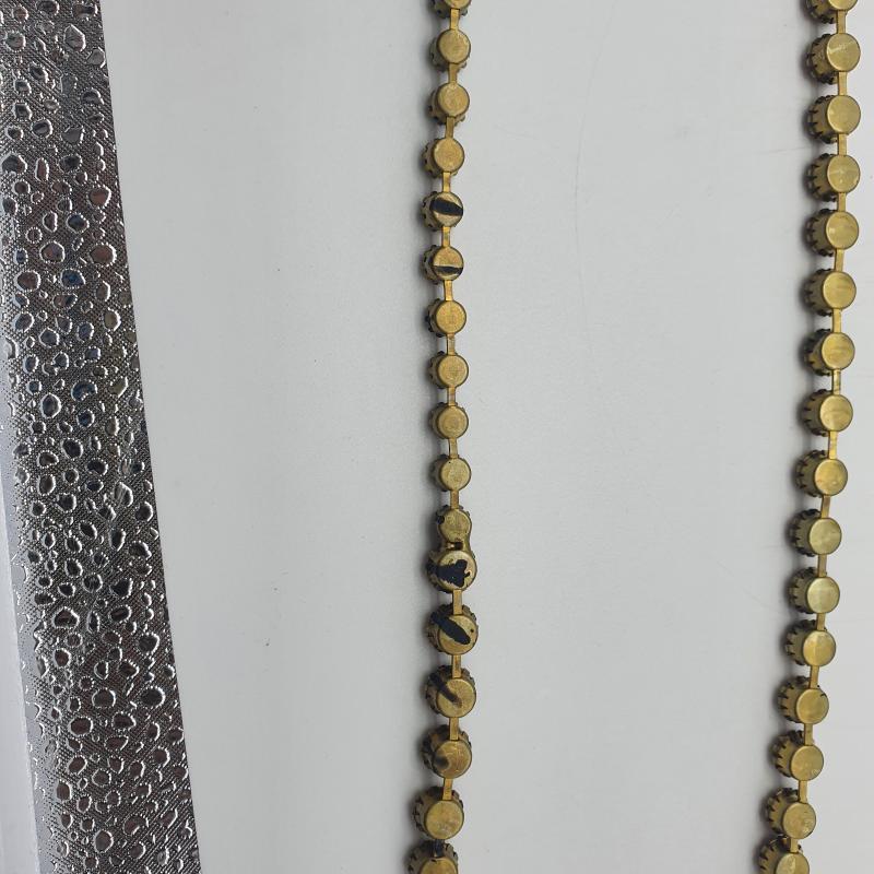 COLLANA STRASS BLU+GIALLINI+PERLINE FORTEFORTE  | Mercatino dell'Usato Cervia 4