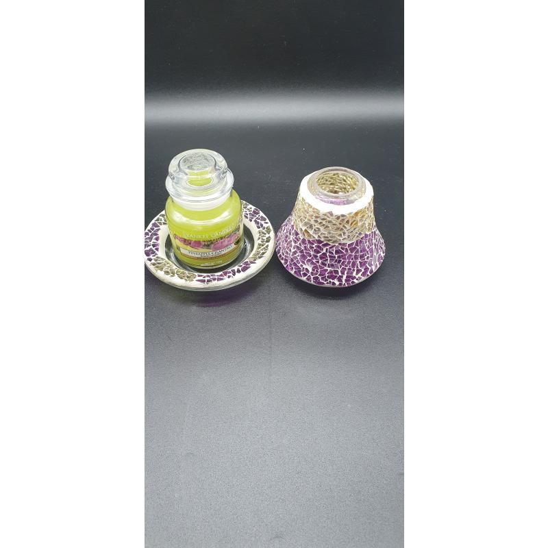 PORTA CANDELA +CANDELA YANKEE CANDLE | Mercatino dell'Usato Cervia 1