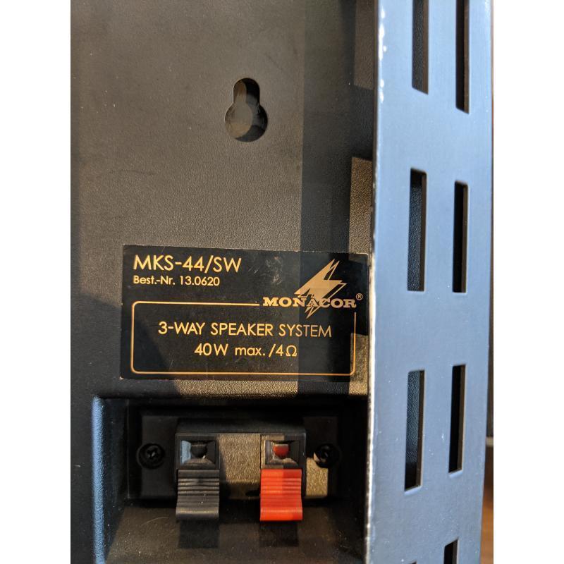 COPPIA CASSE MONACOR MKS-44/SW SUPPORTO MURO   Mercatino dell'Usato Faenza 2