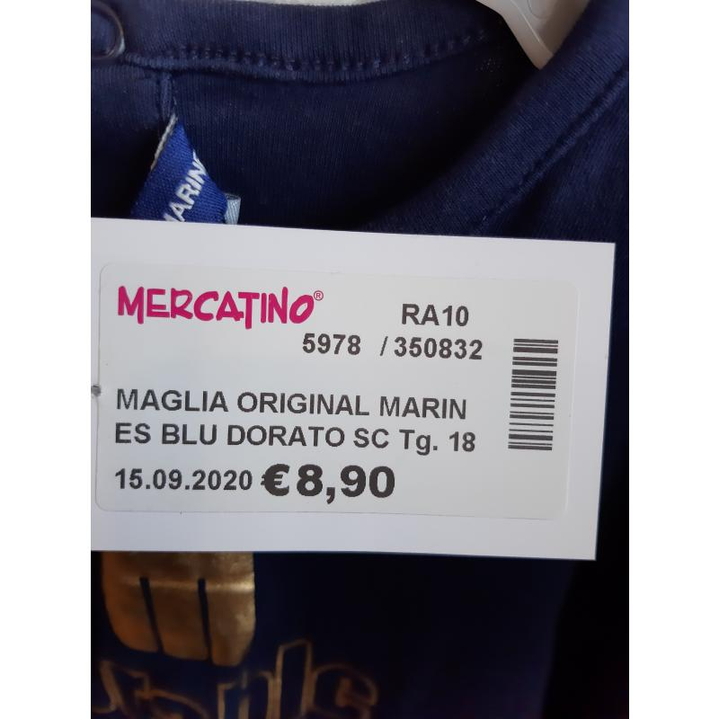 MAGLIA ORIGINAL MARINES BLU DORATO SCRITTA BAMBINA | Mercatino dell'Usato Faenza 3
