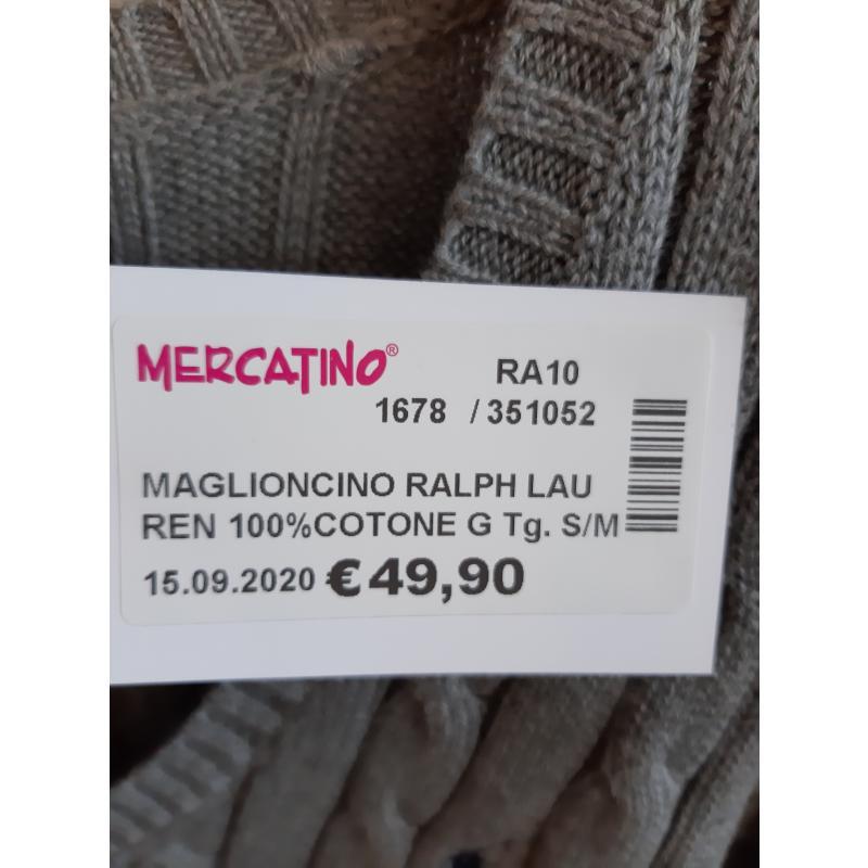 MAGLIONCINO RALPH LAUREN 100%COTONE GRIGIO TRECCIA    Mercatino dell'Usato Faenza 3