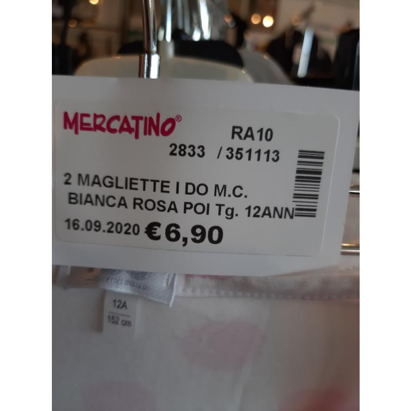 2 MAGLIETTE I DO M.C. BIANCA ROSA POIS BAMBINA   Mercatino dell'Usato Faenza 4
