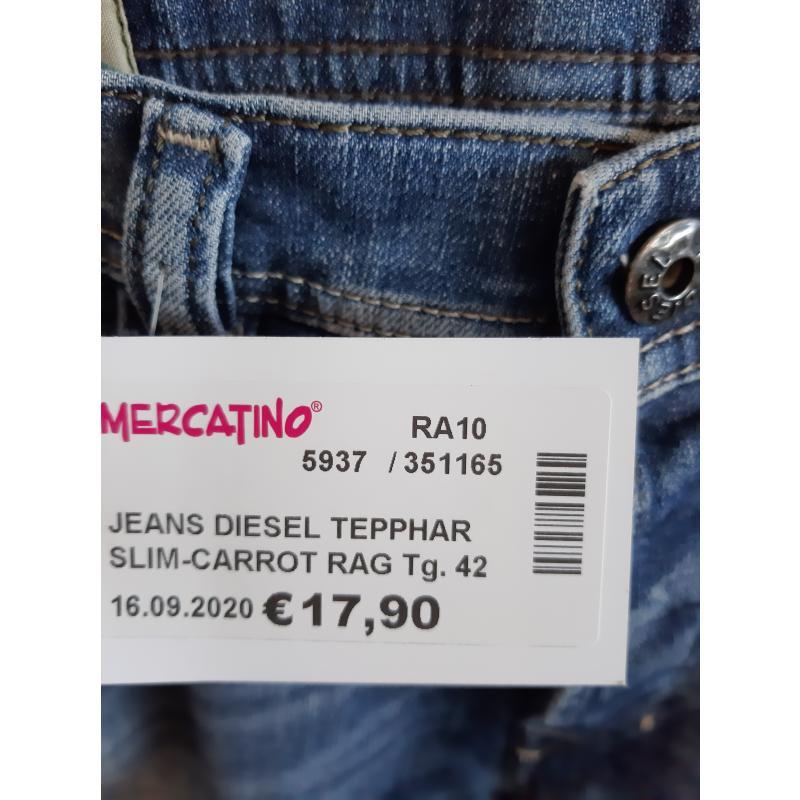 JEANS DIESEL TEPPHAR SLIM-CARROT RAG | Mercatino dell'Usato Faenza 2