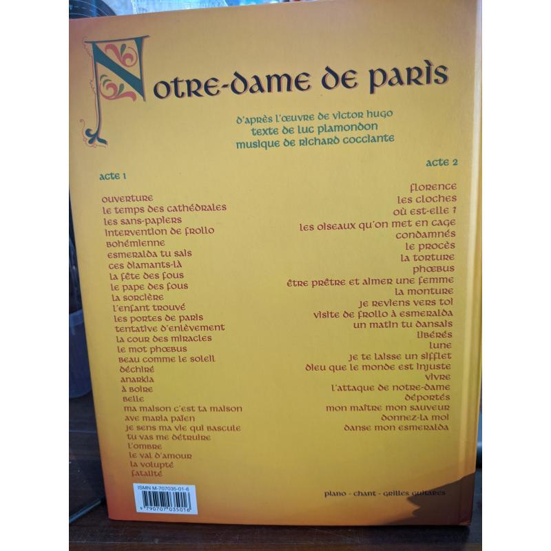 LIBRO NOTRE DAME DE PARIS SPARTITI COCCIANTE PLAMONDON | Mercatino dell'Usato Faenza 2