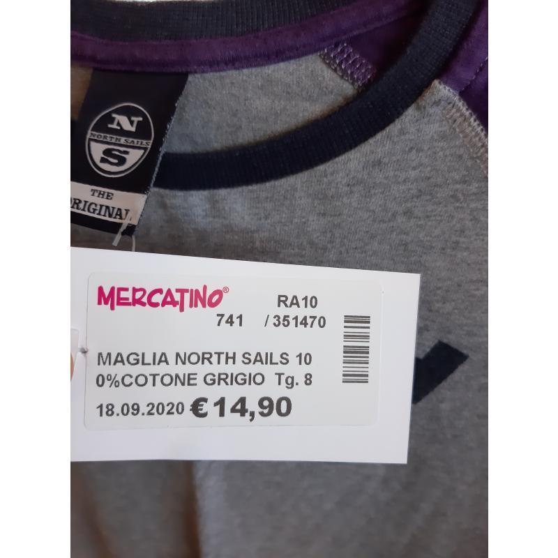 MAGLIA NORTH SAILS 100%COTONE GRIGIO VIOLA BLU BAMBINO  | Mercatino dell'Usato Faenza 3