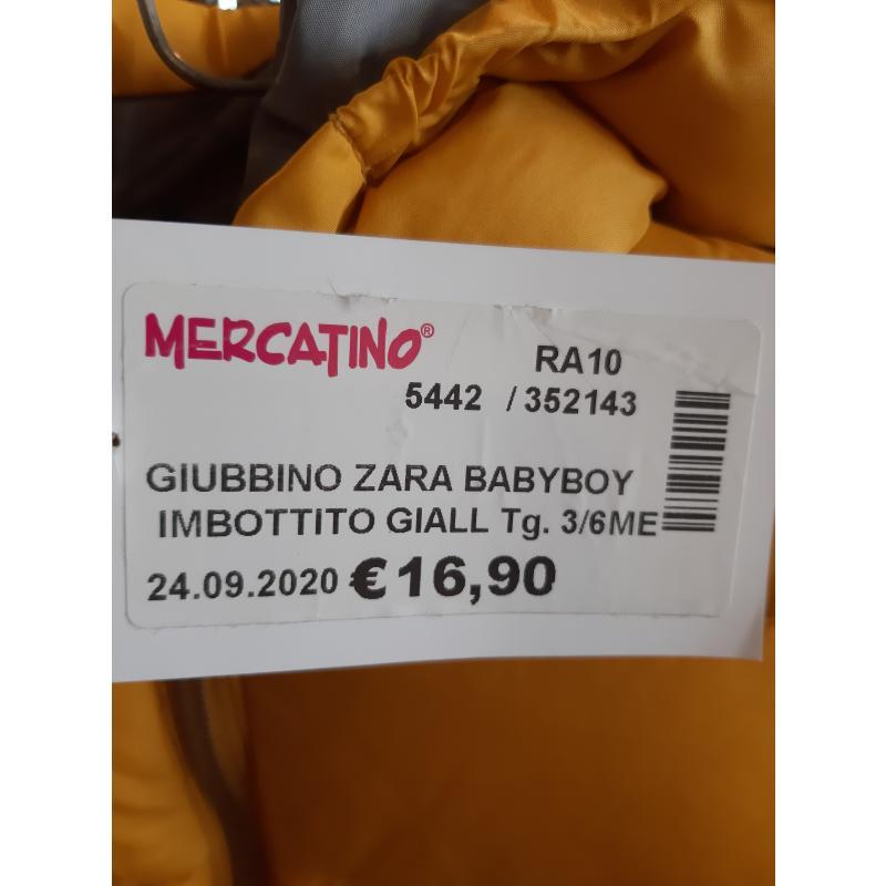 GIUBBINO ZARA BABYBOY IMBOTTITO GIALLO GRIGIO CAPPUCCIO BAMBINO    Mercatino dell'Usato Faenza 3