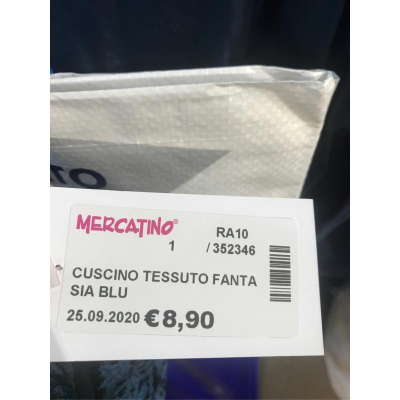 CUSCINO TESSUTO FANTASIA BLU | Mercatino dell'Usato Faenza 2