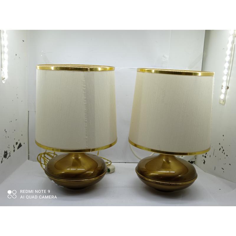 LAMPADE PZ. 2 BASE OTTONE | Mercatino dell'Usato Lugo 1