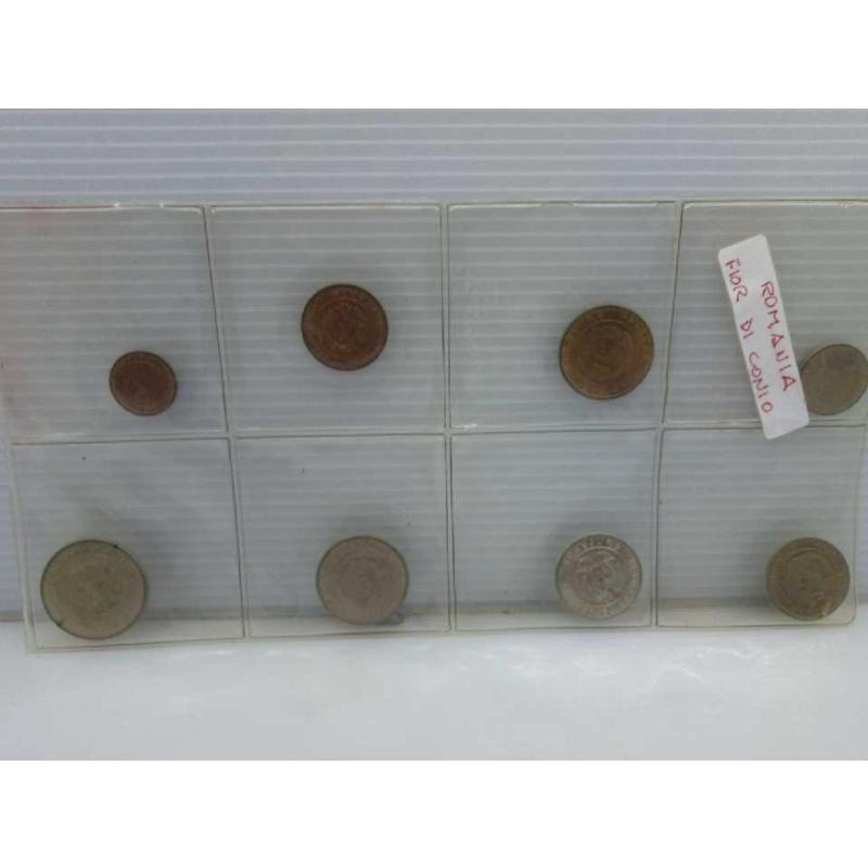 LOTTO 8 MONETE VECCHIE ROMANIA FIOR DI CONIO | Mercatino dell'Usato Lugo 2