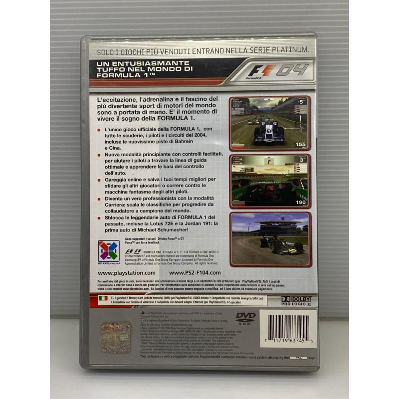 VIDEO GIOCO PS2 FORMULA 1 F1 04    Mercatino dell'Usato Lugo 2