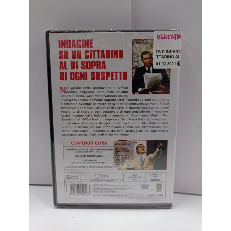 DVD INDAGINE SU UN CITTADINO AL DI SOPRA DI OGNI SOSPETTO | Mercatino dell'Usato Roma garbatella 2